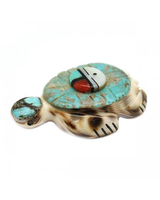 Zuni Krafttierschnitzerei wasserschildkröte