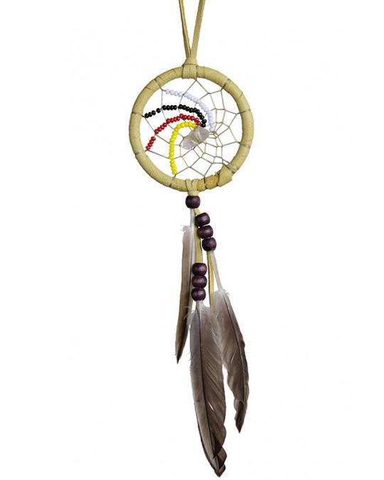 """Mini Traumfänger Visionssucher """"4 Directions"""" aus Kanada, indianische Handarbeit"""