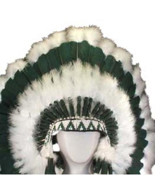 "Original Federnschmuck der Navajo ""Sacred Land"", extralang, dunkelgrün"