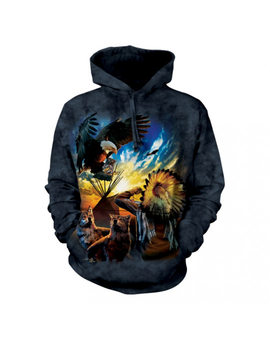"""Eagle Prayer"" Hoodie (Kapuzen-Sweatshirt) von The Mountain"