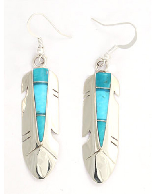 Inlay Ohrringe der Navajo
