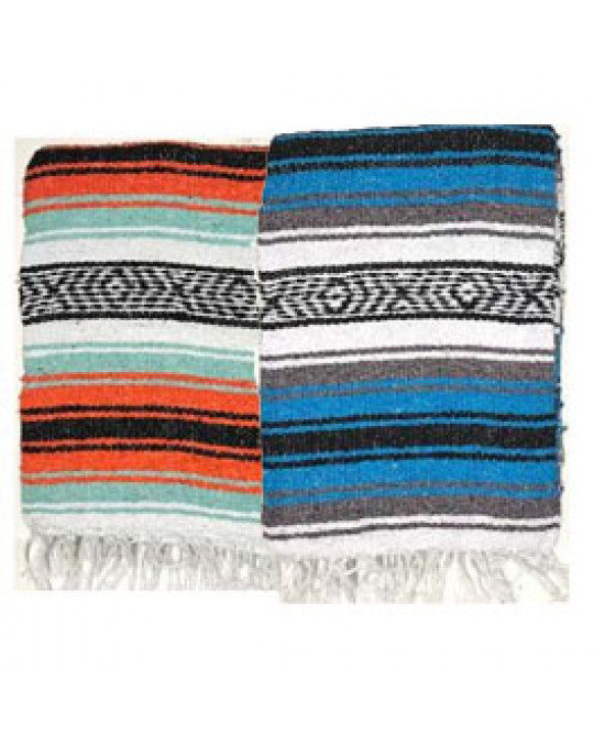 Gewobene, original mexikanische Decke in mehreren Farben,