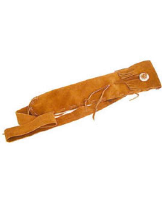 Flötenbeutel aus Leder mit Verschluss