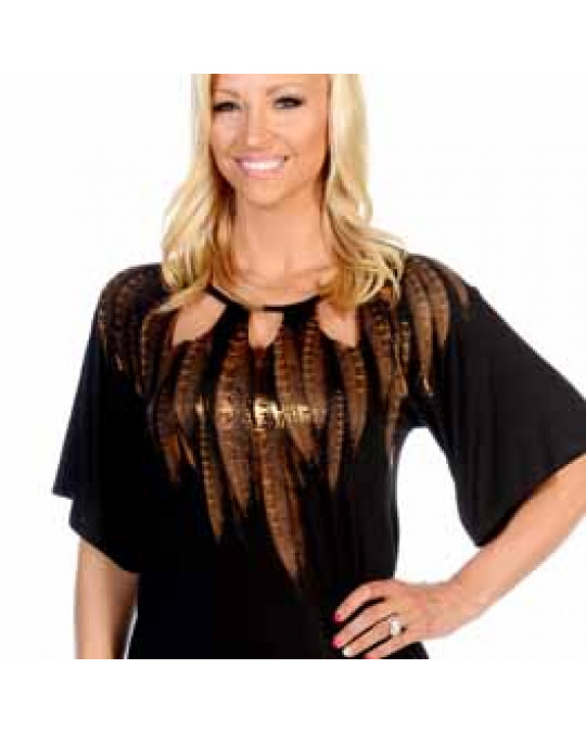 """Shiny Feathers"" Damen T-Shirt"