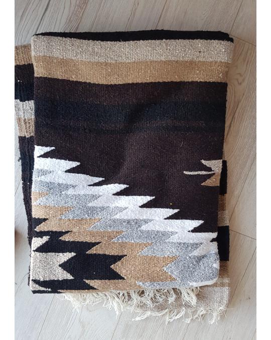EXTRA gross, original mexikanische Decke in mehreren Farben (mit weiss und grau)