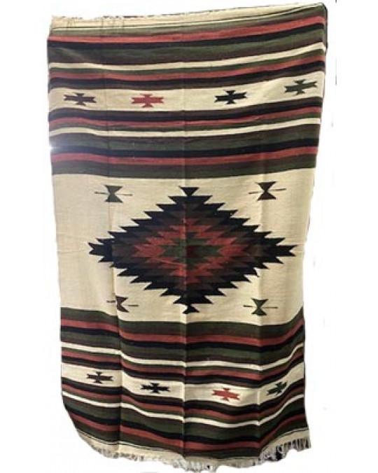 Schwere, extragrosse original mexikanische Decke/Teppich aus 100 % Wolle in 2 neuen Designs