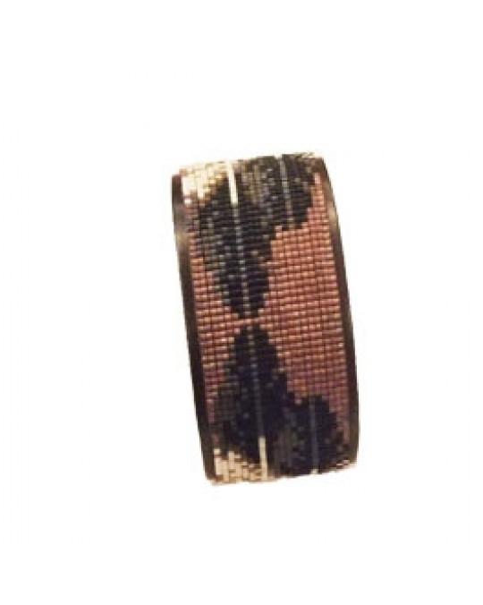 """Armband mit Perlenarbeit, indianische Handarbeit """"Feathers"""""""