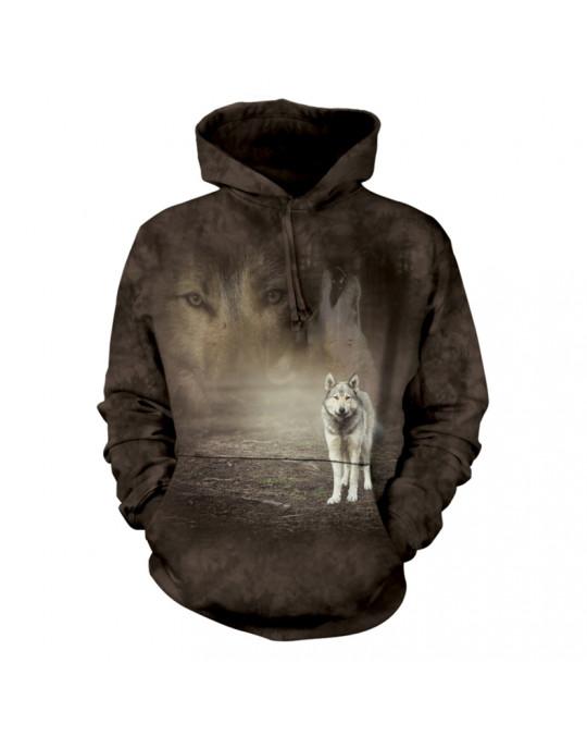 """""""Grey Wolf Portrait""""  Hoodie (Kapuzen-Sweatshirt) von The Mountain"""