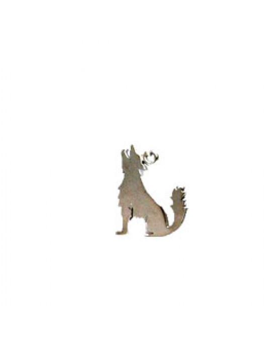 Heulender Wolf/Coyote kleiner Anhänger