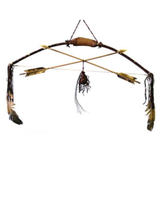 Edler Zier Pfeilbogen der Navajo mit Geweihgriff