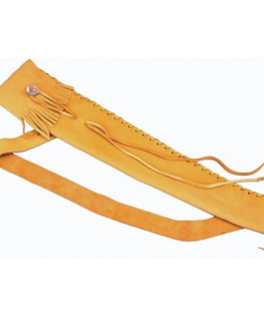 Flötenbeutel aus edlem Hirschleder mit Verschluss