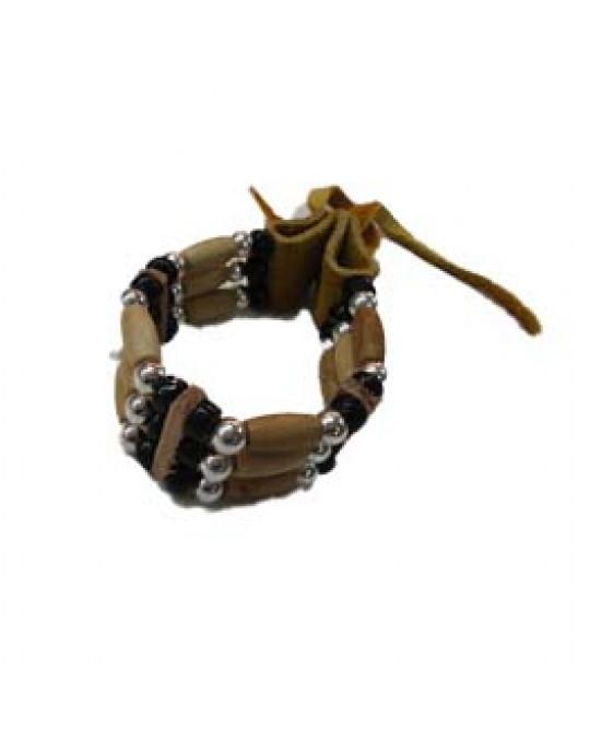 Armband aus Knochen und Rehleder