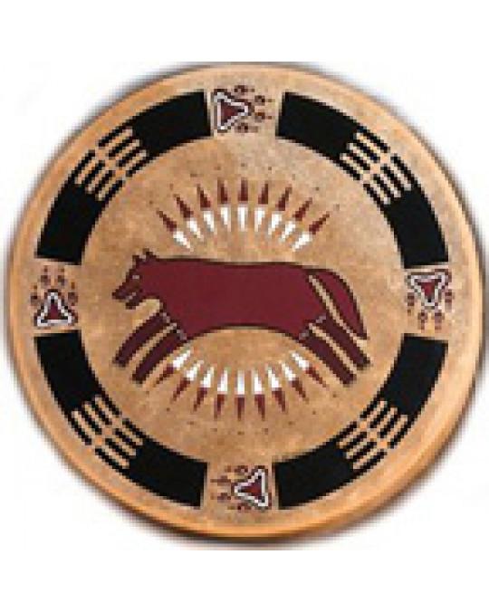 """Trommel aus dem Taos Pueblo """"Hunting Wolf"""""""
