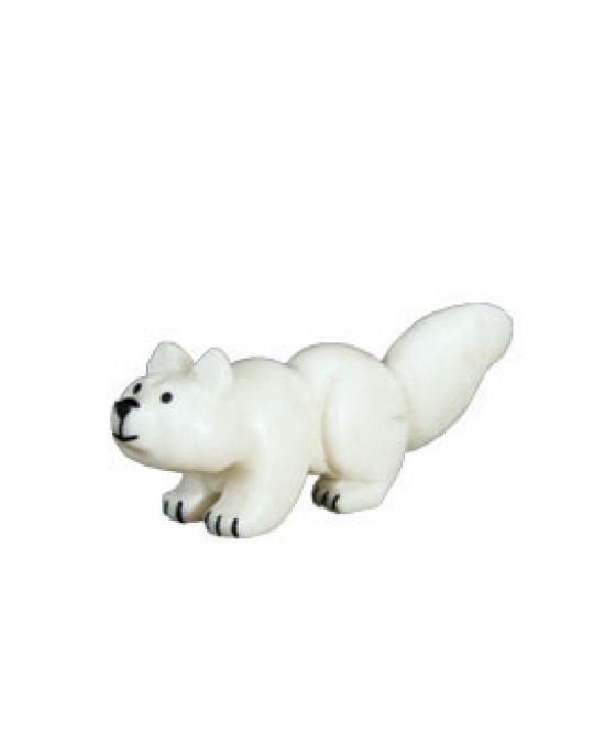 """Zuni Krafttierschnitzerei """"White Wolf"""""""