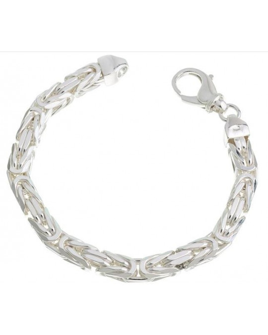Königsketten-Armband, massiv, 8 mm breit
