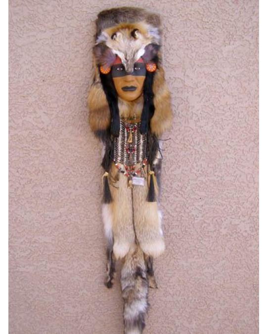 """Zeremonialmaske, Assiniboine-Heiler """"Walking Wolf"""""""