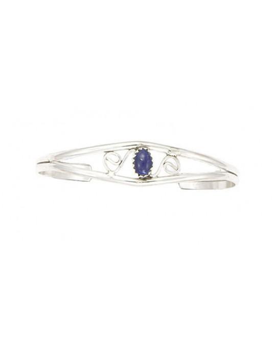 Lapis Lazuli extrem klein und fein, mit Spiralenmotiv