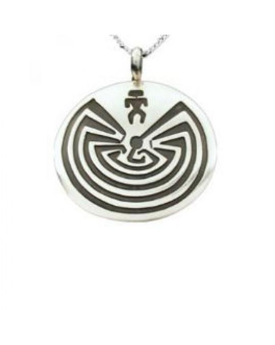 """Amulett Labyrinth """"Man in The Maze"""" der Navajo"""