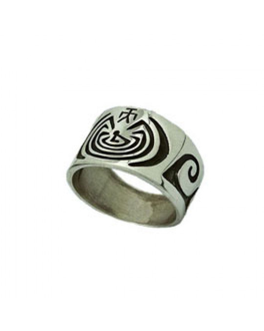 "Ring Lebens-Labyrinth ""Man in the Maze"""