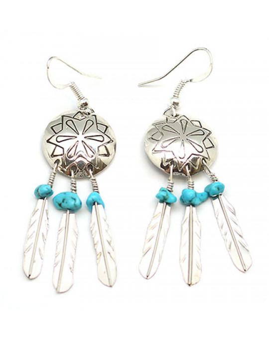 Ohrringe Mandala aus Navajo Handarbeit