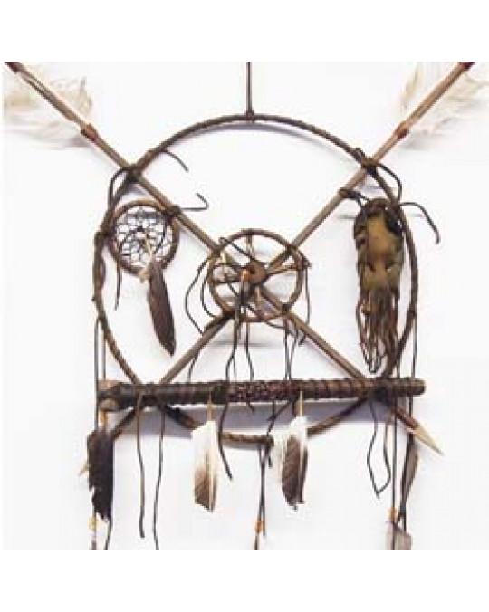 Schamanisches Ausrüstungsschild der Navajo