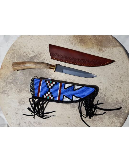 Messer und Messerscheide der Algonquin