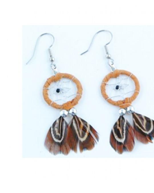 Traumfänger-Ohrringe aus Kanada