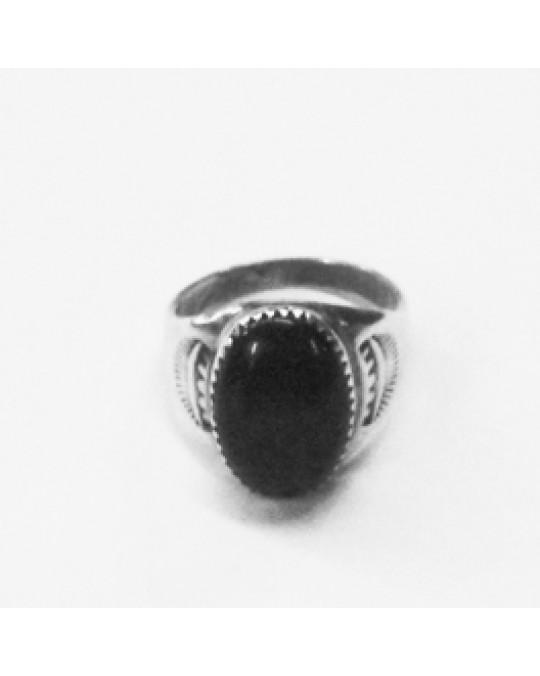 Navajo Onyx Ring für Herren