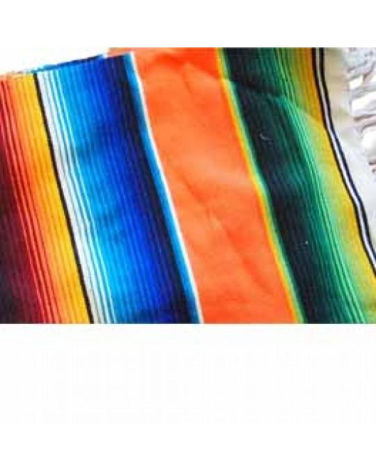 Regenbogen Decke im mexikanischen Stil-orange