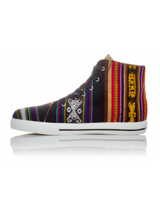"Sneakers aus Peru, Hi Top, ""Blackbird"" Gr. 37"