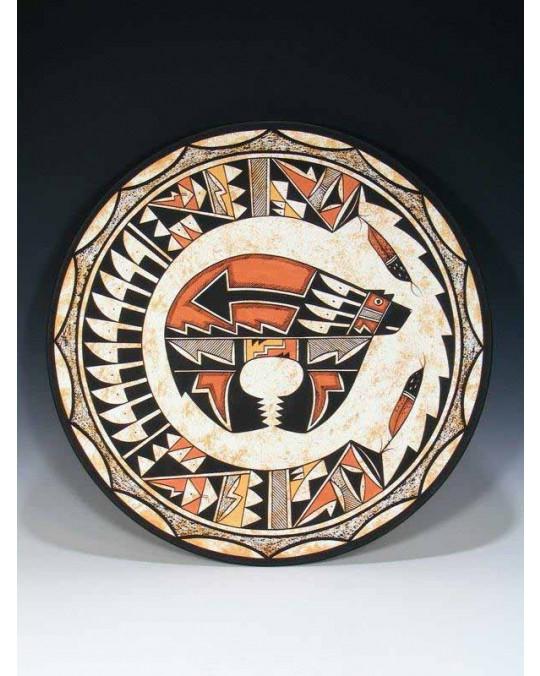 """Acoma Pueblo Töpferei """"Bearclaw"""" Teller"""