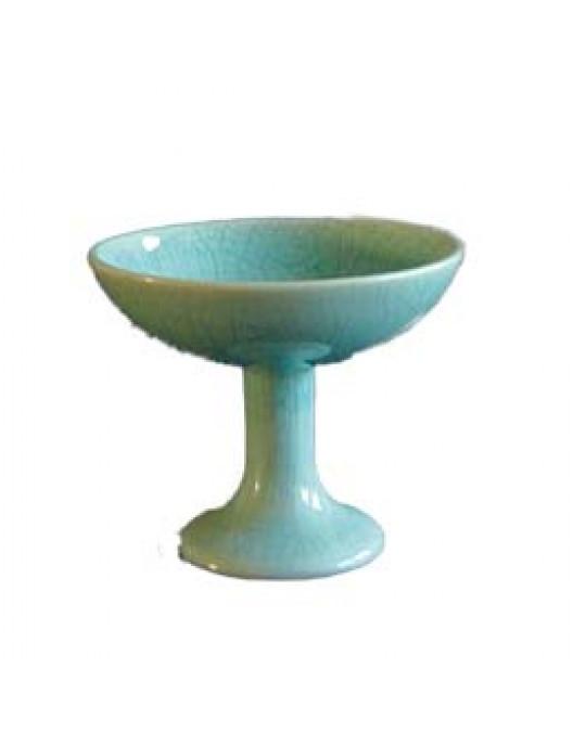 Edles Räucherschale Keramik, in 2 Farben, türkis und crème