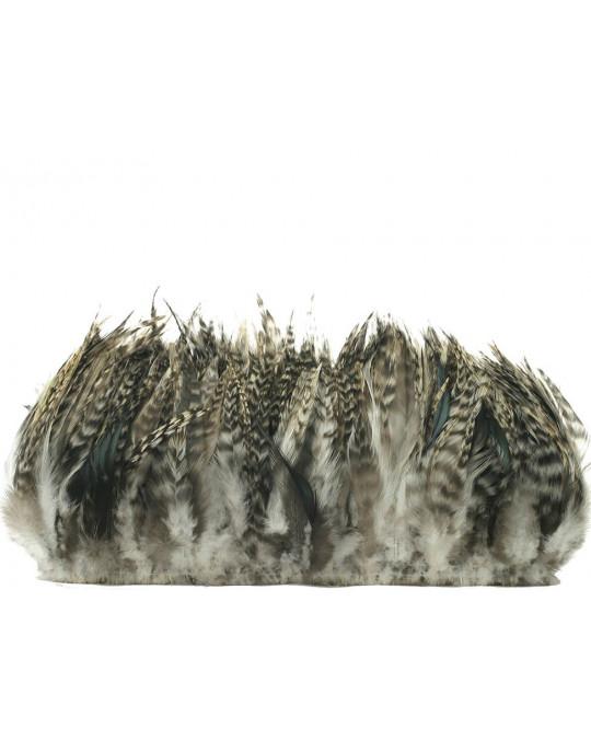"""Zierhahnen-Federn  """"Chinchilla dunkles grau""""  (15-20 cm)"""