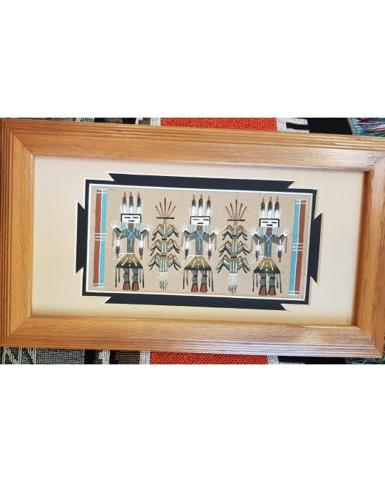 "Sandbild der Navajo ""Yei Dancers"""