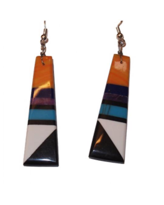 Ohrhänger aus dem Santo Domingo Pueblo in 2 Farbkombinationen
