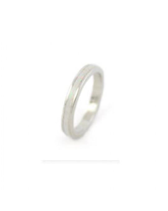 Schmaler Ring mit Einlegearbeit Zuchtopal