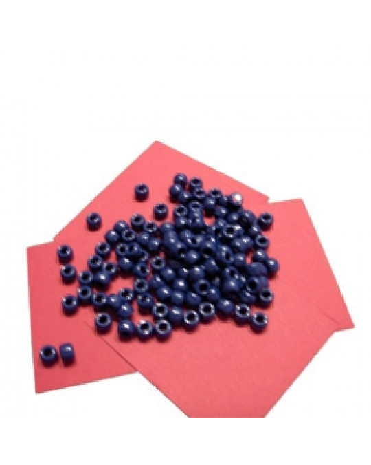 Plastikperlen mit grossen Löchern, einzelne Farben