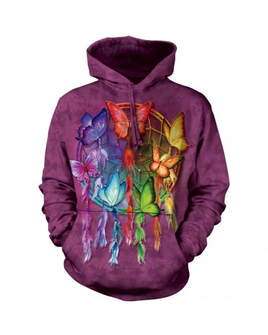 Traumfänger Hoodie (Kapuzen-Sweatshirt) Dreamcatcher/Butterflies von The Mountain