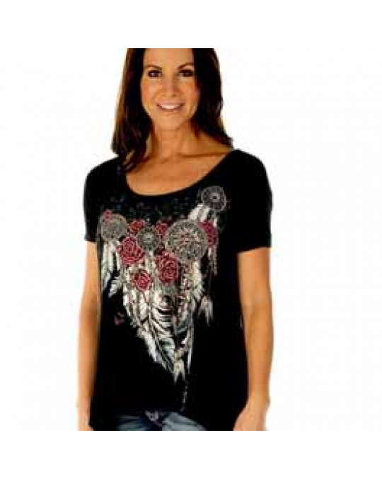 """Feathers & Conchos"" Damen T-Shirt"