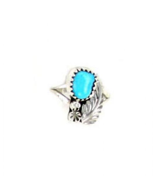 Ring der Navajo mit einem Türkis