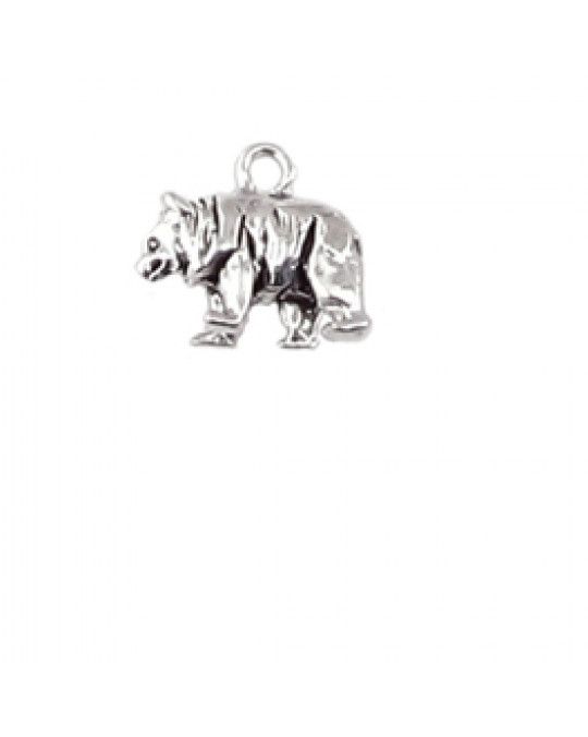 """""""Walking Bear"""" aus Silber 3-D Anhänger"""