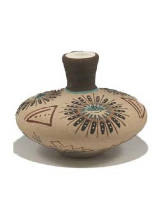 Vase mit Sandmalerei Sunface