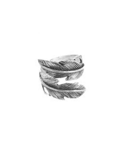 """Verstellbarer Ring """"Feder"""""""