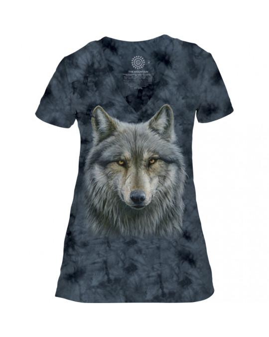 """Warrior Wolf"" T-Shirt Damen Tri-Blend"