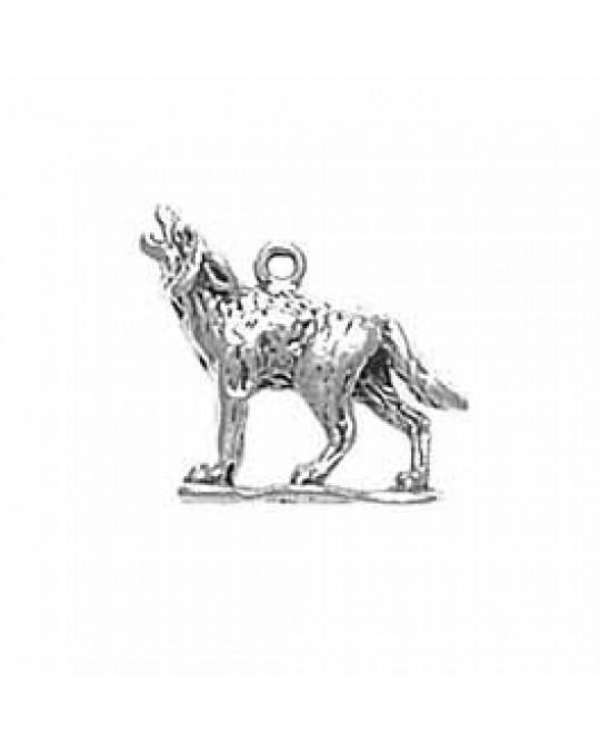 3-D Wolf kleiner Anhänger