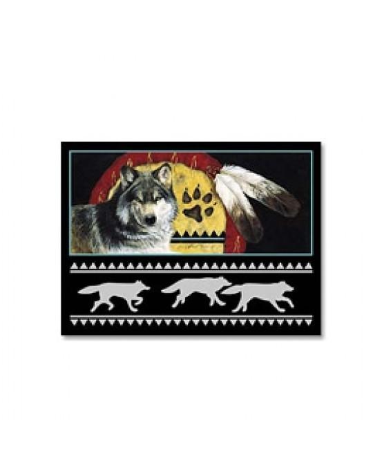 """Wolf Karte """"Wolfschild"""""""