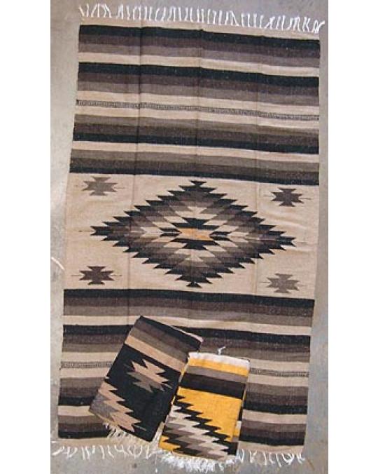 Grob gewobene, original mexikanische Decke in mehreren Farben