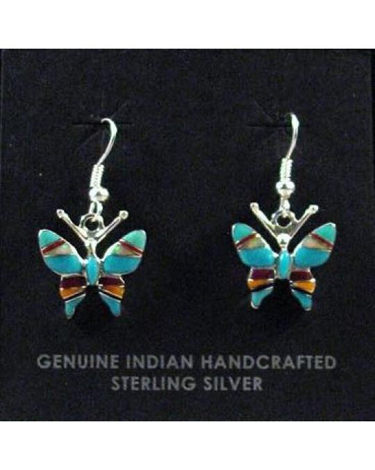 "Zuni Inlay Ohrringe ""Butterfly"""