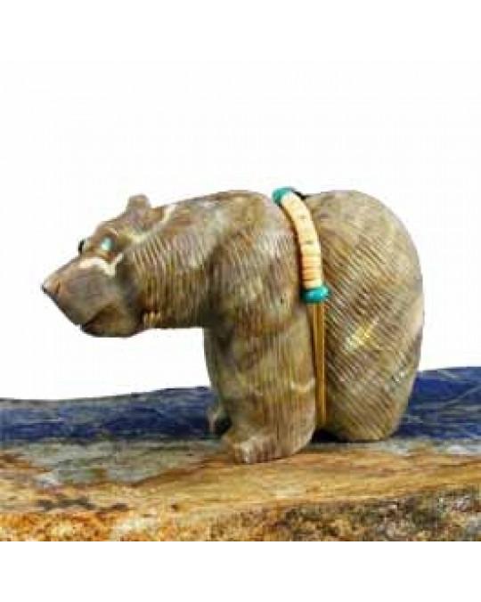 Zuni Krafttierschnitzerei  Bär